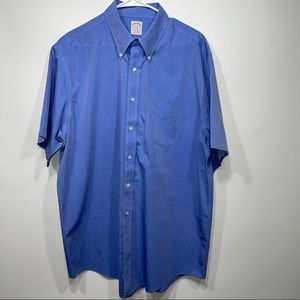 Brooks brothers casual short sleeve button down